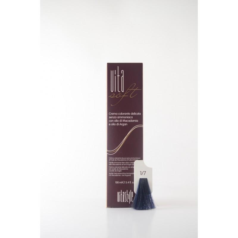 1/7 nero Blu Vitasoft crema colorante