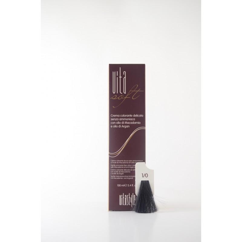1/0 nero Vitasoft crema colorante