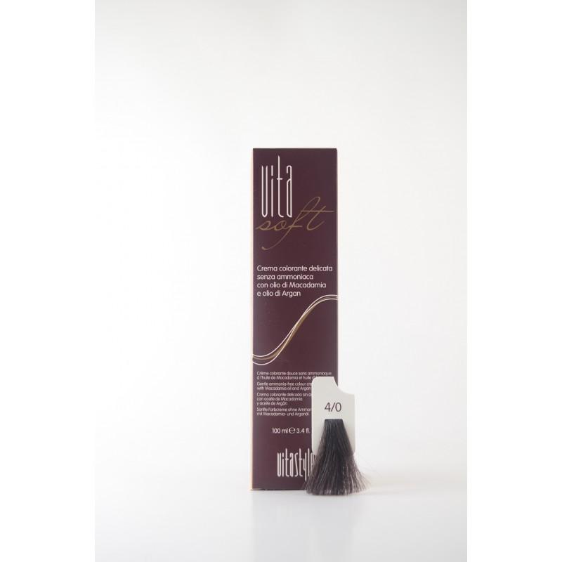 4/0 Castano Vitasoft crema colorante senza ammoniaca