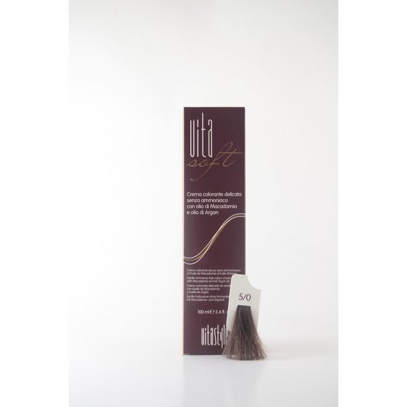5/0 Castano chiaro Vitasoft crema colorante senza ammoniaca