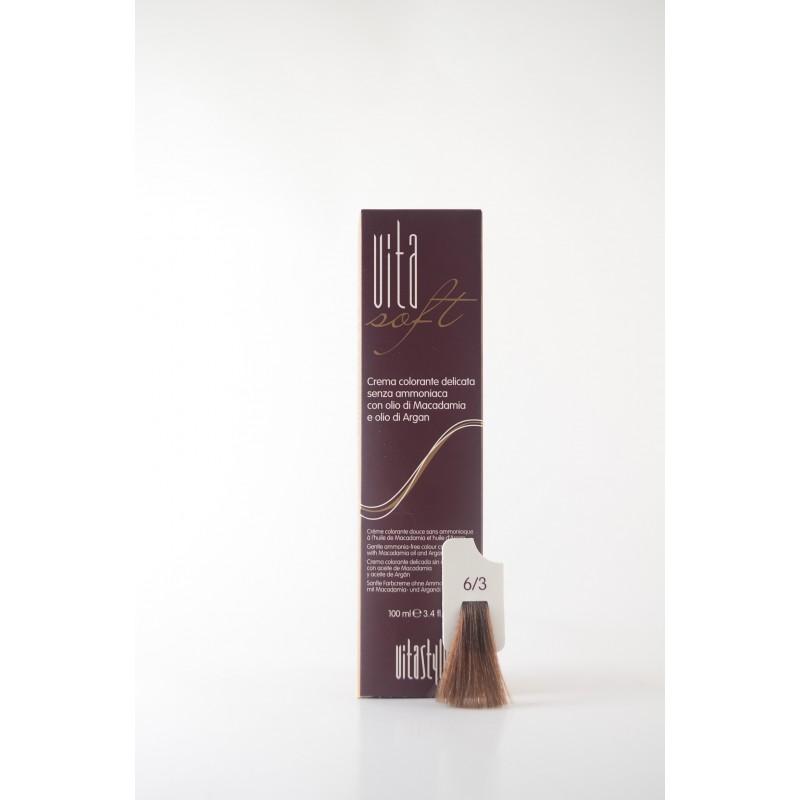 6/3 Biondo scuro dorato Vitasoft crema colorante senza ammoniaca