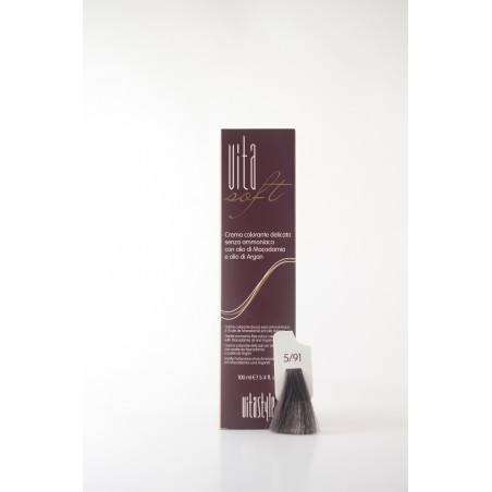 5/91 Castano chiaro marrone cenere Vitasoft crema colorante senza ammoniaca