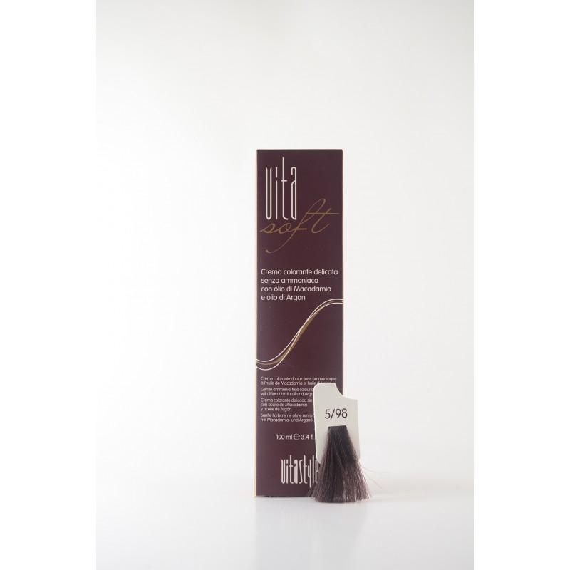 5/98 Castano chiaro marrone perla Vitasoft crema colorante senza ammoniaca