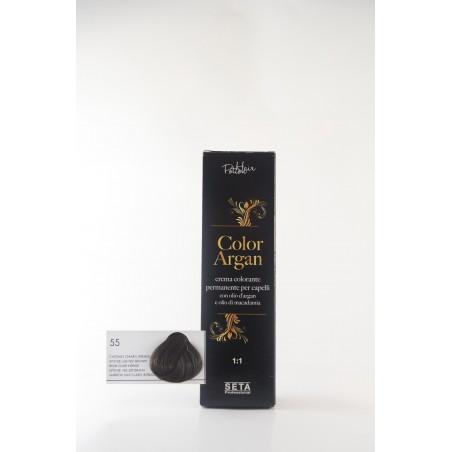 55 castano chiaro intenso color argan hair potion
