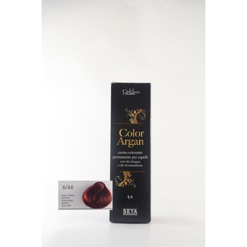 6/66 Rosso Rubino color argan hair potion