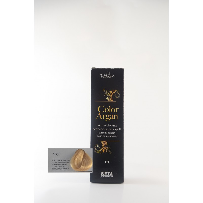 12/3 Biondo platino dorato color argan hair potion