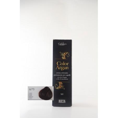 6/73 ambra color argan hair potion