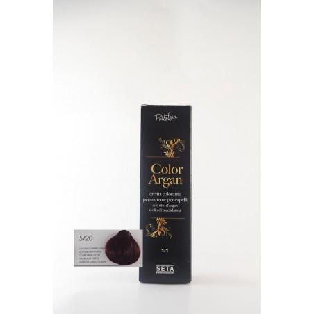 5/20 castano chiaro viola color argan hair potion