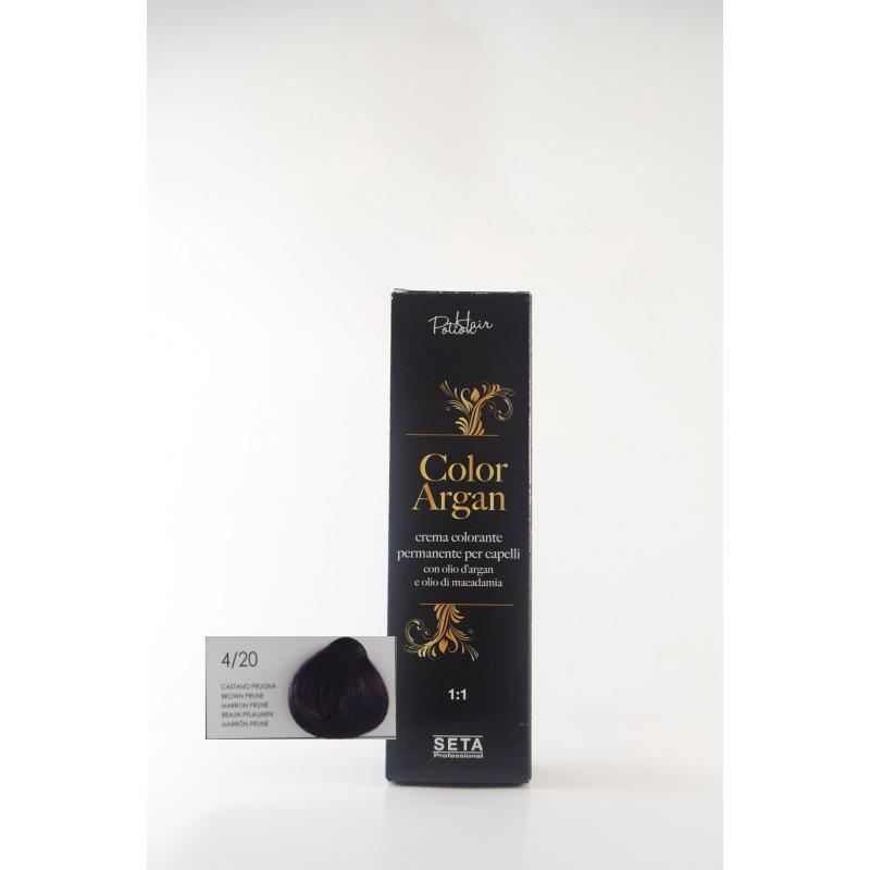 4/20 castano prugna color argan hair potion