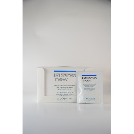 Bleacy new polvere decolorante blu scatola 30 buste Oyster